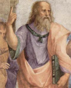 raffael-stanza-della-segnatura-im-vatikan-fuer-papst-julius-ii.-wandfresko-die-schule-von-athen-detail-platon-07908
